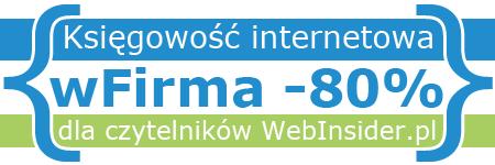 Księgowość internetowa wFirma -80% dla czytelników WebInsider.pl