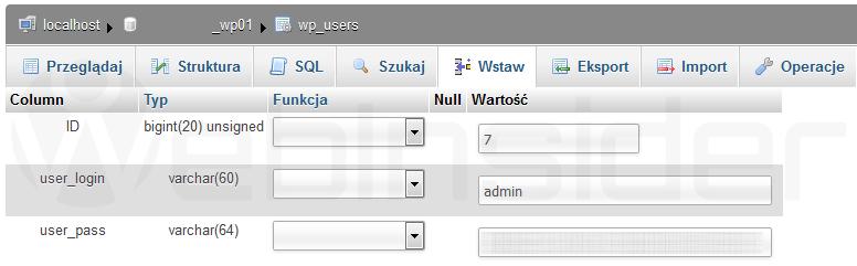 wordpress_zmiana-nazwy-uzytkownika_phpmyadmin