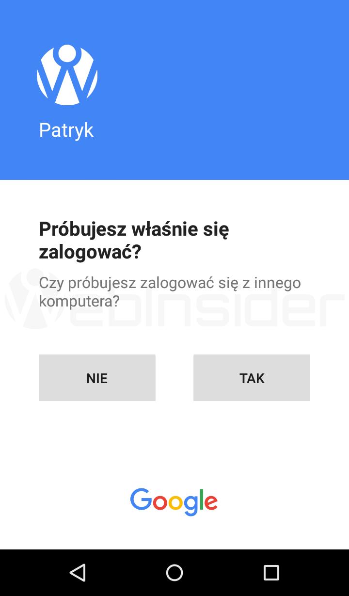 google-2fa_potwierdzenie-od-google_android