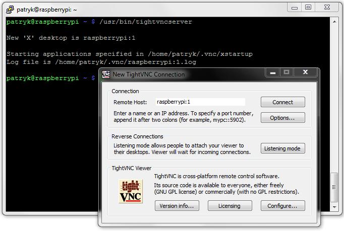 TightVNC, czyli pulpit zdalny na przykładzie Raspberry Pi